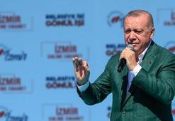Cumhurbaşkanı Erdoğan İzmirde duyurdu: En büyük müjdem bu...