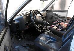 Kütahyada dehşet anları Otomobilin içinde...
