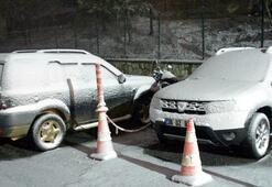 Ve beklenen kar yağışı Kırklarelide başladı