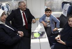 TBMM Başkanlığı görevini devreden Yıldırım, İstanbula hızlı tren ile gitti