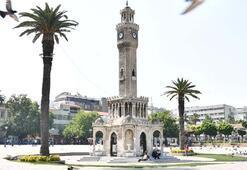 İzmirde tarihi Saat Kulesinde restorasyon