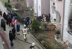 İstanbulda apartmanda korkutan yangın