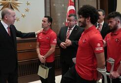 Cumhurbaşkanı Erdoğan, Ampute Futbol Milli Takımını kabul etti