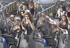 Yolcu otobüsünde büyük panik