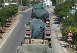 Kilis'ten İdlip sınırına askeri araç sevkıyatı