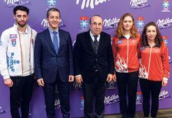 Türk kayağına Milka desteği