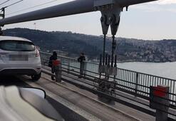 Son dakika...  15 Temmuz Şehitler Köprüsünde intihar girişimi