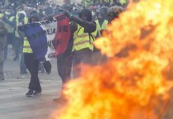 Sarı yeleklilerin gösterilerindeki şiddet Parisin dışına sıçradı