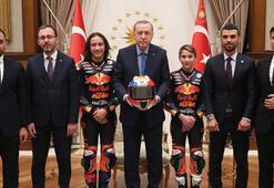 Cumhurbaşkanı Erdoğan, Sofuoğlu ve Öncü kardeşleri kabul etti