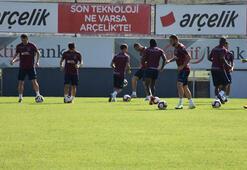 Trabzonsporda pas ve şut çalışması
