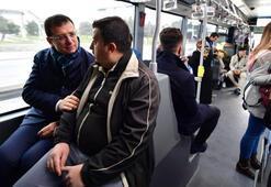 Kendime metrobüs alacağım demişti... CHPli İmamoğlu ile birlikte yolculuk yaptı
