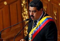 Yardım kamyonlarını Maduro yaktırmamış