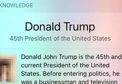 Siri, Donald Trumpın cinsel organ olduğunu düşünüyor