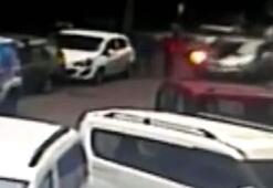 Kızının aracını kaçıran yaşlı adam dehşet saçtı