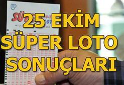 25 Ekim Süper Loto sonuçları açıklandı 25 milyonluk büyük ikramiye hangi ile çıktı