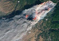Californiadaki orman yangınları uzaydan fotoğraflandı