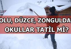 Düzce, Bolu, Zonguldakta bugün okullar tatil mi 17 Ocak Perşembe