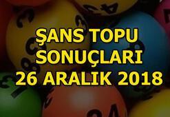 Şans Topu 26 Aralık çekiliş sonuçları MPİ sorgula