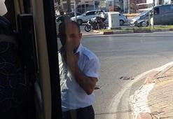 Otobüs şoförü 80 saniyelik kırmızı ışıkta bakın ne yaptı