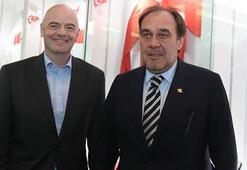 FIFA Başkanı Infantinodan TFF Başkanı Yıldırım Demirörene ziyaret