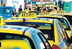 Yolcuları mağdur eden taksici yandı