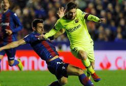 Messi şov yaptı, Barcelona Levanteyi dağıttı