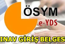 e- YDS sınav giriş belgesi sorgulama ekranı