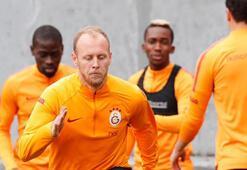 Galatasarayda Göztepe maçı hazırlıkları sürüyor