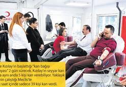 Milletvekilleri de kan bağışı kuyruğuna girdi