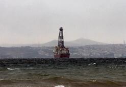 Türkiyenin yeni sondaj gemisi Yalova açıklarında demirledi