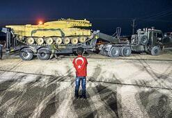 Obüs ve tanklar sınırda