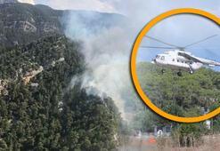 Son dakika: Yangına giden helikopter pilotu öyle bir şey yaptı ki...