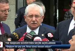 YSK Başkanı Güvenden seçim açıklaması