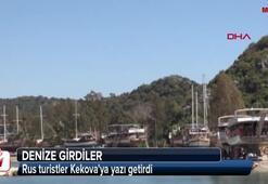 Rus turistler Kekovaya yazı getirdi