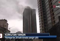 Kadıköyde inşaat halindeki gökdelende yangın