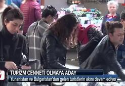 Edirneye Balkanlardan alışveriş akını