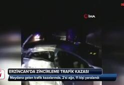 Erzincanda zincirleme trafik kazası
