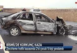 Bismilde zincirleme trafik kazası: 5 yaralı