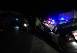 Erzincanda zincirleme trafik kazası Çok sayıda yaralı var...