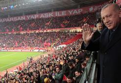 Cumhurbaşkanı Erdoğan, Milli Takıma destek verdi