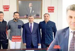 Sporcu dostu Kaymakam Tunç'a efsane golcüden ziyaret