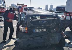 TEMde zincirleme kaza: 3 Yaralı