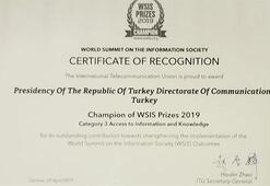 CİMERe Bilgiye Erişim alanında En İyi Proje ödülü