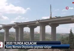 Kuzey Marmara Otoyolunda çalışmalar sürüyor
