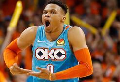 Thunder, Westbrook ile kazandı