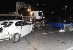 Şoförü kaza yaptı
