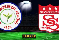 Çaykur Rizespor - Sivasspor: 0-0