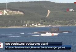 Rus denizaltısı Çanakkale Boğazından geçti