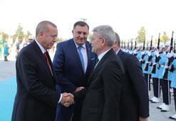 Cumhurbaşkanı Erdoğan, Bosna Hersek Devlet Başkanlığı Konseyi üyelerini resmi törenle karşıladı