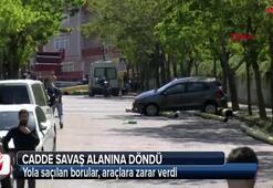 İstanbulda korkutan kaza Minibüse ok gibi saplandı